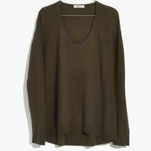 Madewell Kimball Pullover Sweater - Olive Green